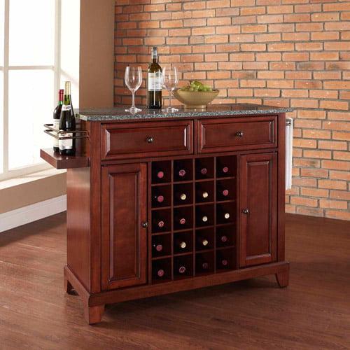 Crosley Furniture Newport Solid Granite Top Wine Island
