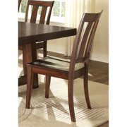 Liberty Furniture Tahoe Slat Back Dining Side Chair in Mahogany Stain