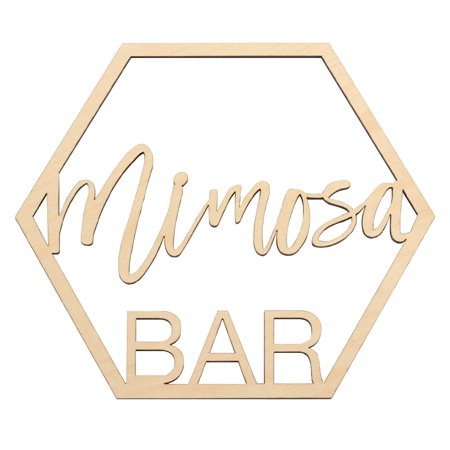 Koyal Wholesale Wood Mimosa Bar Sign, Party Banner, Decorations For Wedding Bridal Shower Ladies Brunch Birthday - After Wedding Brunch