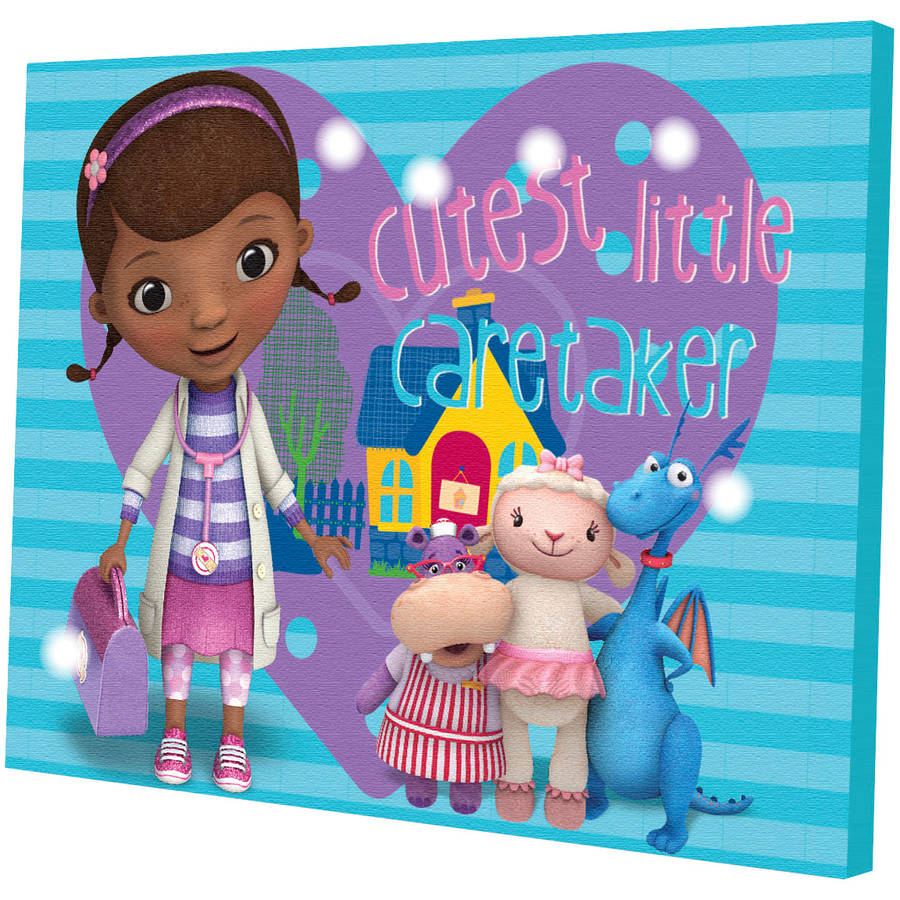 Disney Doc McStuffins LED Light Up Canvas Wall Art