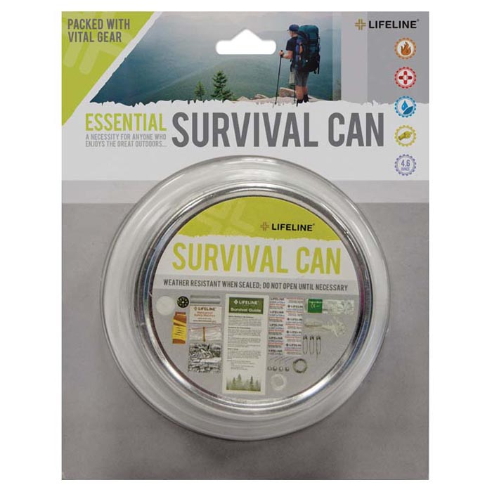 Lifeline Essential Survival Can 29 Pieces