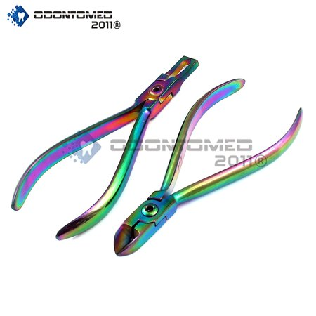 OdontoMed2011 Galaxy Rainbow Orthodontic Hard Wire Cutter + Bracket Remover Braces Ideal Hobby Tools And Personal Use Multi Color Orthodontic Pliers ODM
