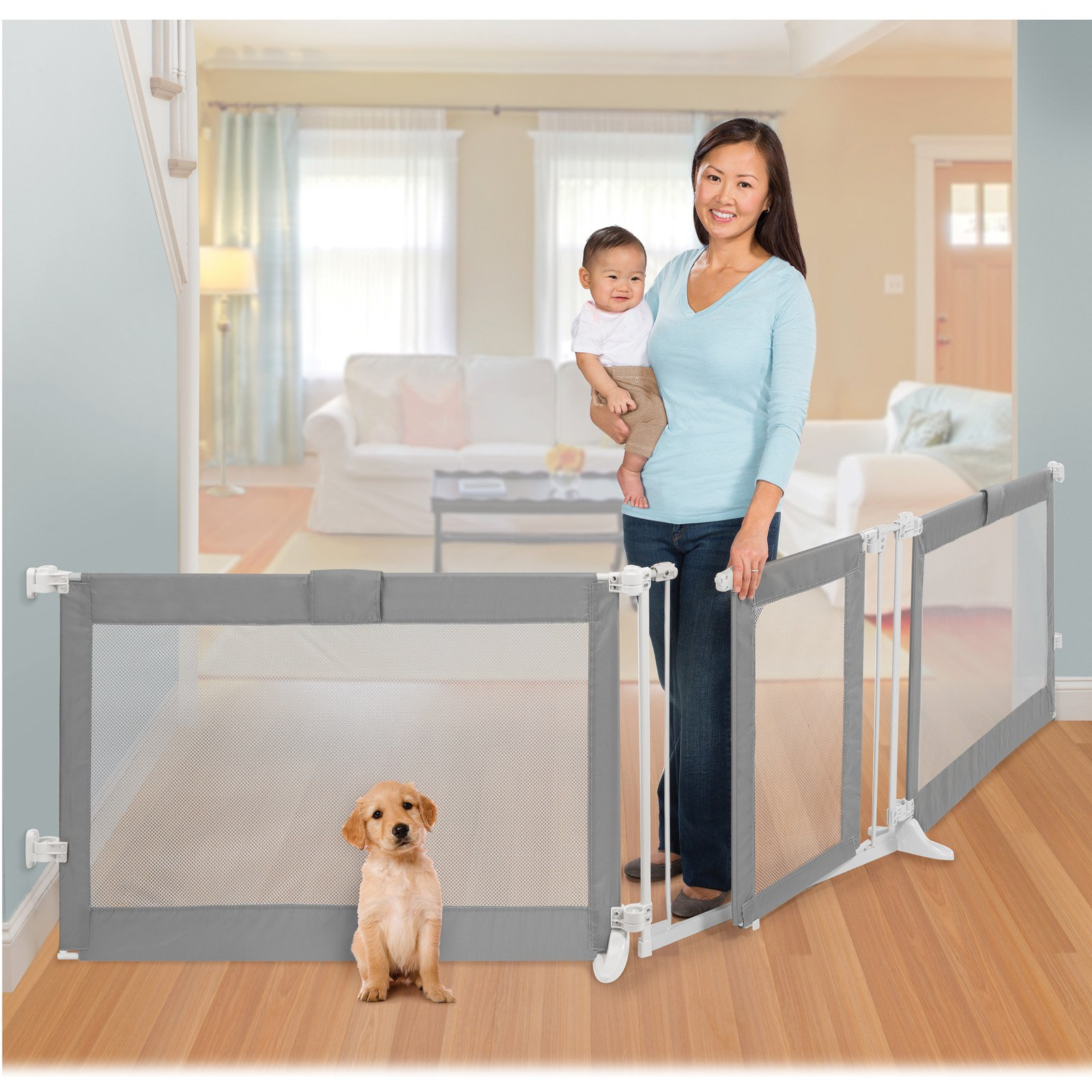 """Summer Infant Extra Wide Baby Gate & Playard, 65""""-86"""" or 96""""-141"""""""