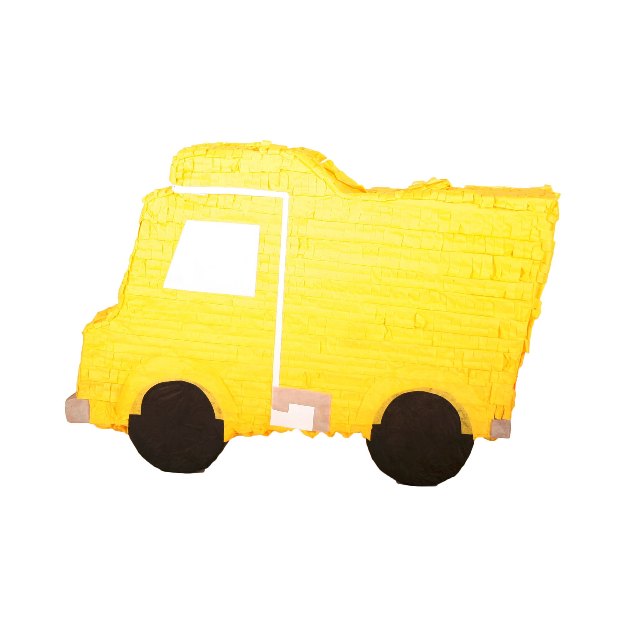 Yellow Construction Truck Party Pinata, Traditionally Handcrafted