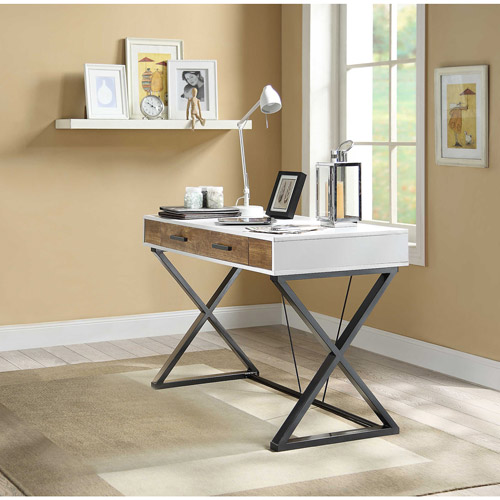 Whalen Samford Contemporary Computer Desk, White