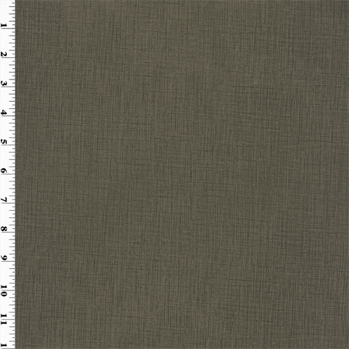Cross Hatch Vinyl - Brownstone, Fabric By the Yard