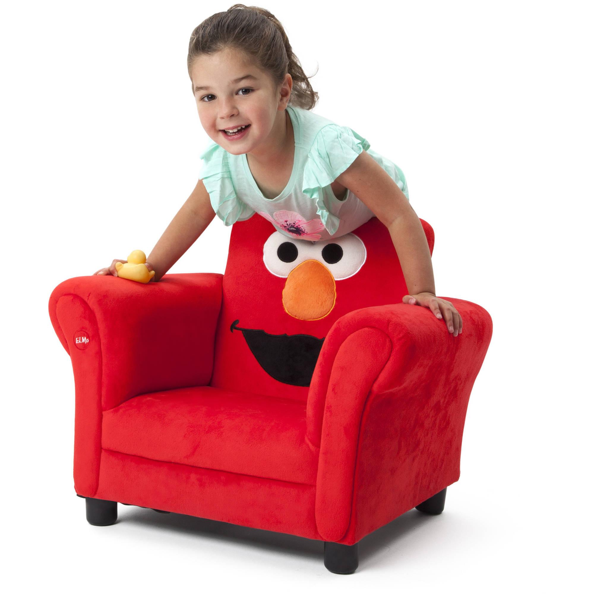 Sesame Street Elmo Upholstered Chair Walmart