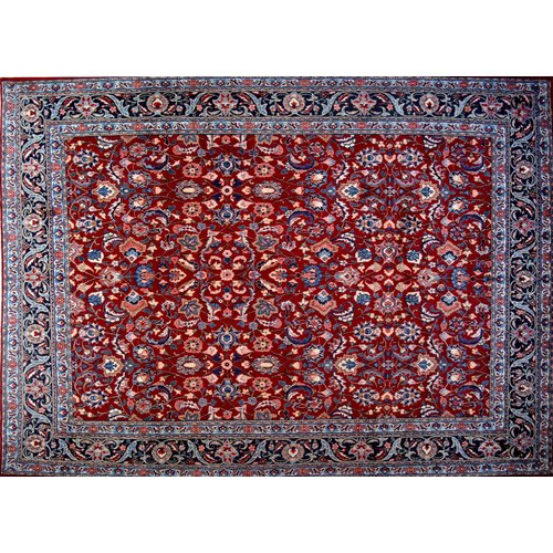 Isabelline One-of-a-Kind Pitchford Hand-Knotted 9' x 12'4'' Red/Purple Area Rug