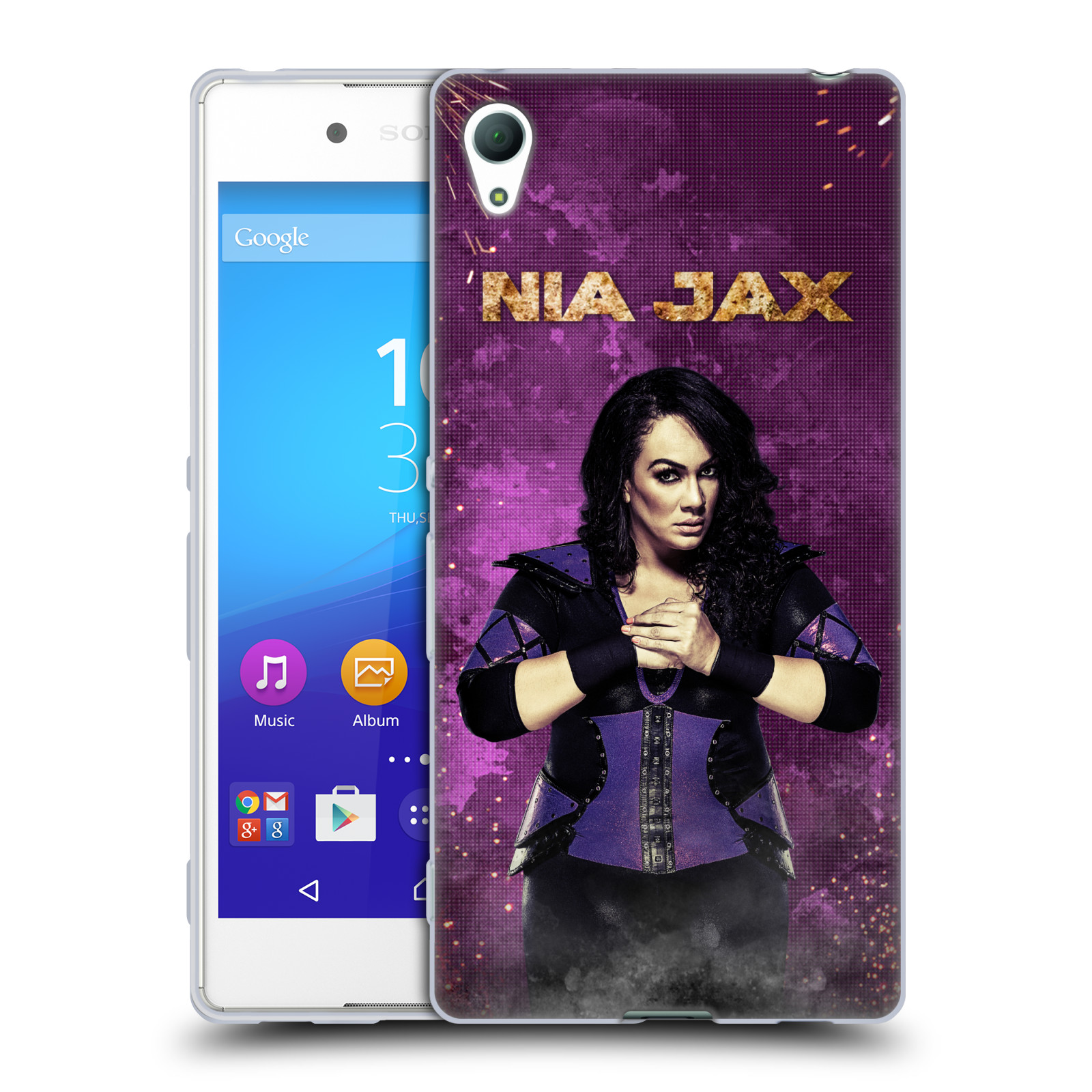OFFICIAL WWE NIA JAX SOFT GEL CASE FOR SONY PHONES 2