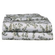 Renauraa 144 Thread Count 100% Cotton Percale Floral Twin Bed Sheet Set