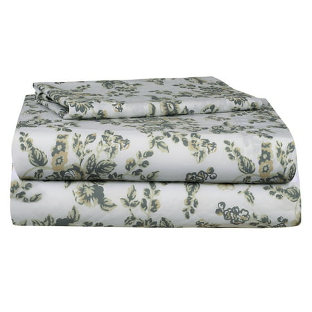 Auraa Essentials 144 TC 100% Cotton Percale Print 3 PC Twin Sheet