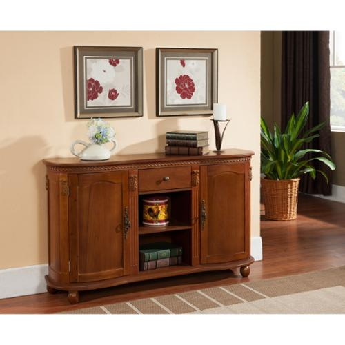 K and B Furniture Co Inc K & B C1244 Walnut Console Table