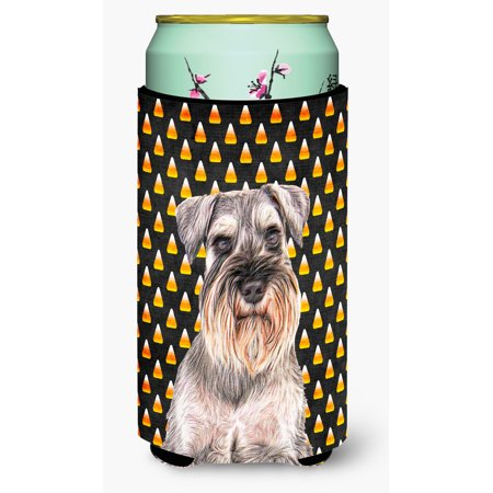 Candy Corn Halloween Schnauzer Tall Boy Beverage Insulator Hugger KJ1214TBC