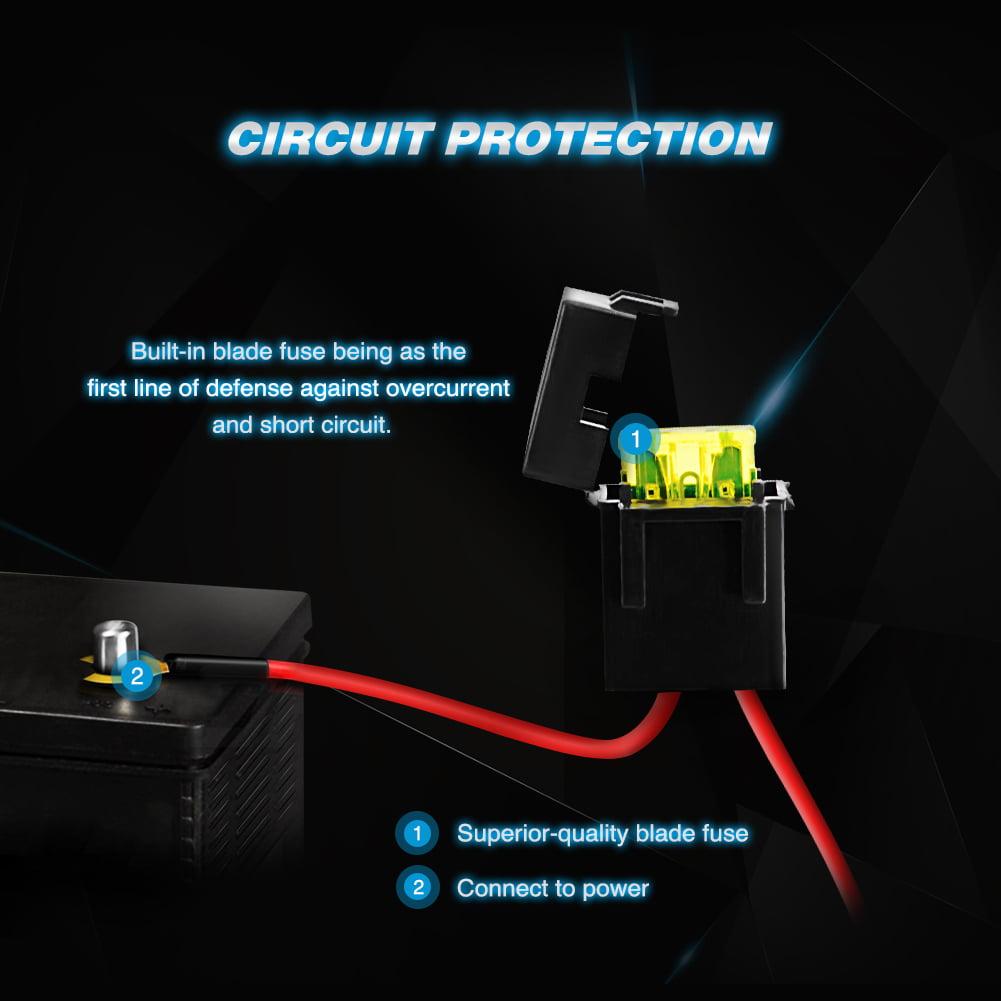 Nilight LED Light Bar Wiring Harness Kit 12V On off ... on generator installation, radio installation, ignition coil installation, safety harness installation, timing chain installation, power supply installation,