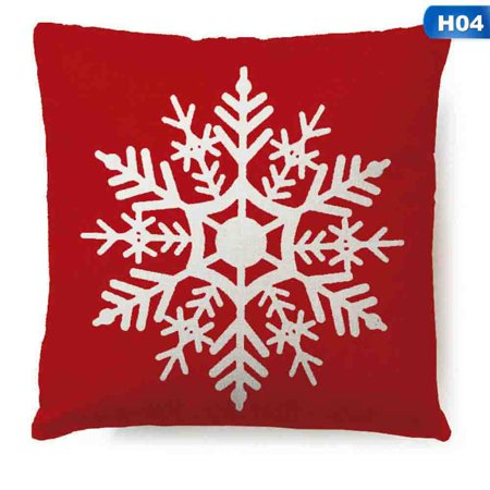 Gardeners 18 X 18 Inch Merry Christmas Gifts Flax Throw Pillow Case Let It Snow Cushion Cover Home Office Living Room Sofa Car Decorative (the pillow inner is not included) ()