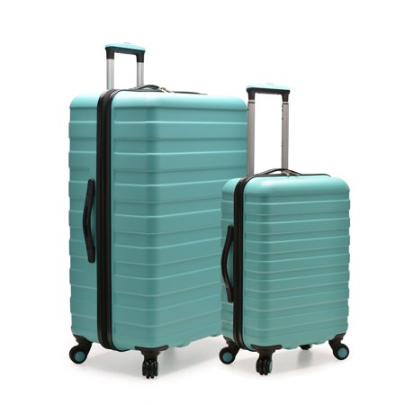 U.S. Traveler Cypress Colorful 2-Piece Small and Large Hardside Spinner Luggage Set,