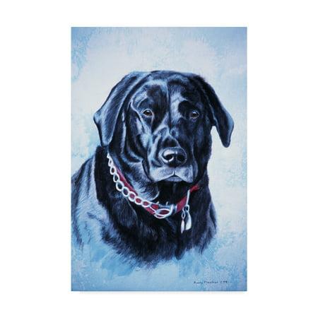Trademark Fine Art 'Black Lab' Canvas Art by Rusty Frentner ()