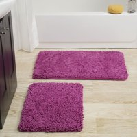 Somerset Home 2 Piece Memory Foam Bath Mat Set
