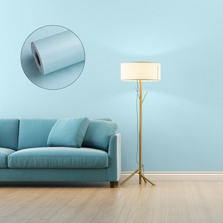 Home Cal Peel and Stick Wallpaper - Roll Waterproof Self-Adhesive Contact Paper Removable Shelf Paper PVC Wall Paper Covering – 1.97ⅹ16.4ft - Mint Blue(Plastic Scraper Included)