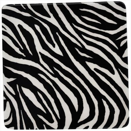 Andreas TRS-150 Zebra Square Silicone Trivet - Pack of 3