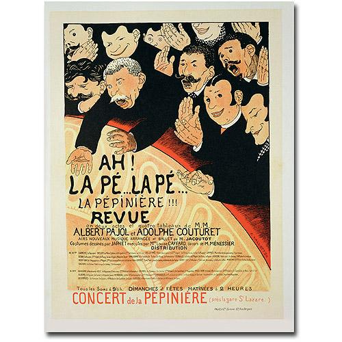"""Trademark Fine Art """"Chauffons! Chauffons! 1898"""" Canvas Wall Art by Jules Gruen"""