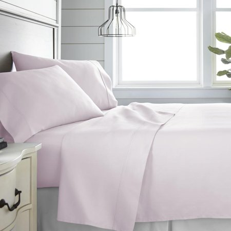 Noble Linens 300 Thread Count 4 Piece Bed Sheet Set - 100% Cotton 4 Piece 300 Thread