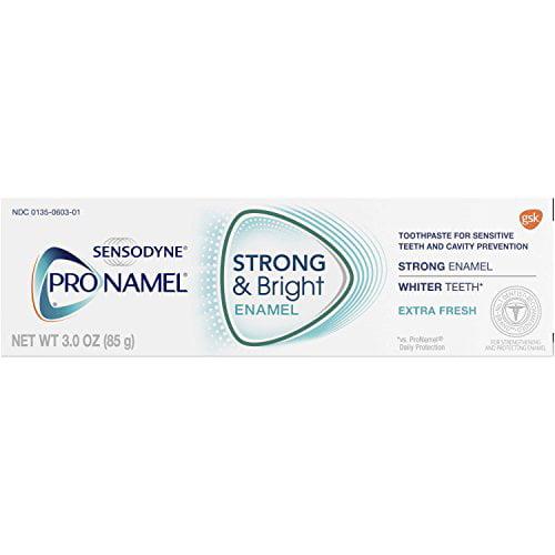 6 Pack Sensodyne Pronamel Strong and Bright Extra Fresh Toothpaste 3oz Each