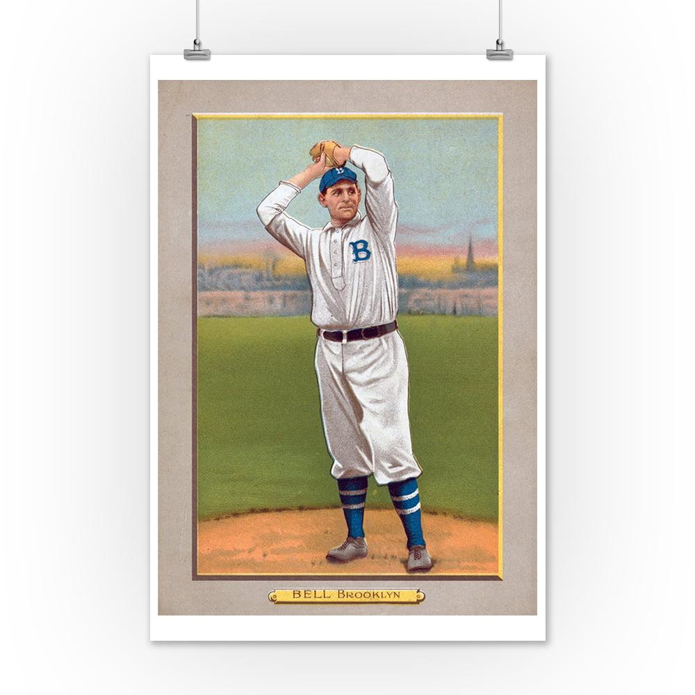Brooklyn Dodgers George Bell Baseball Card 9x12 Art Print Wall Decor Travel Poster