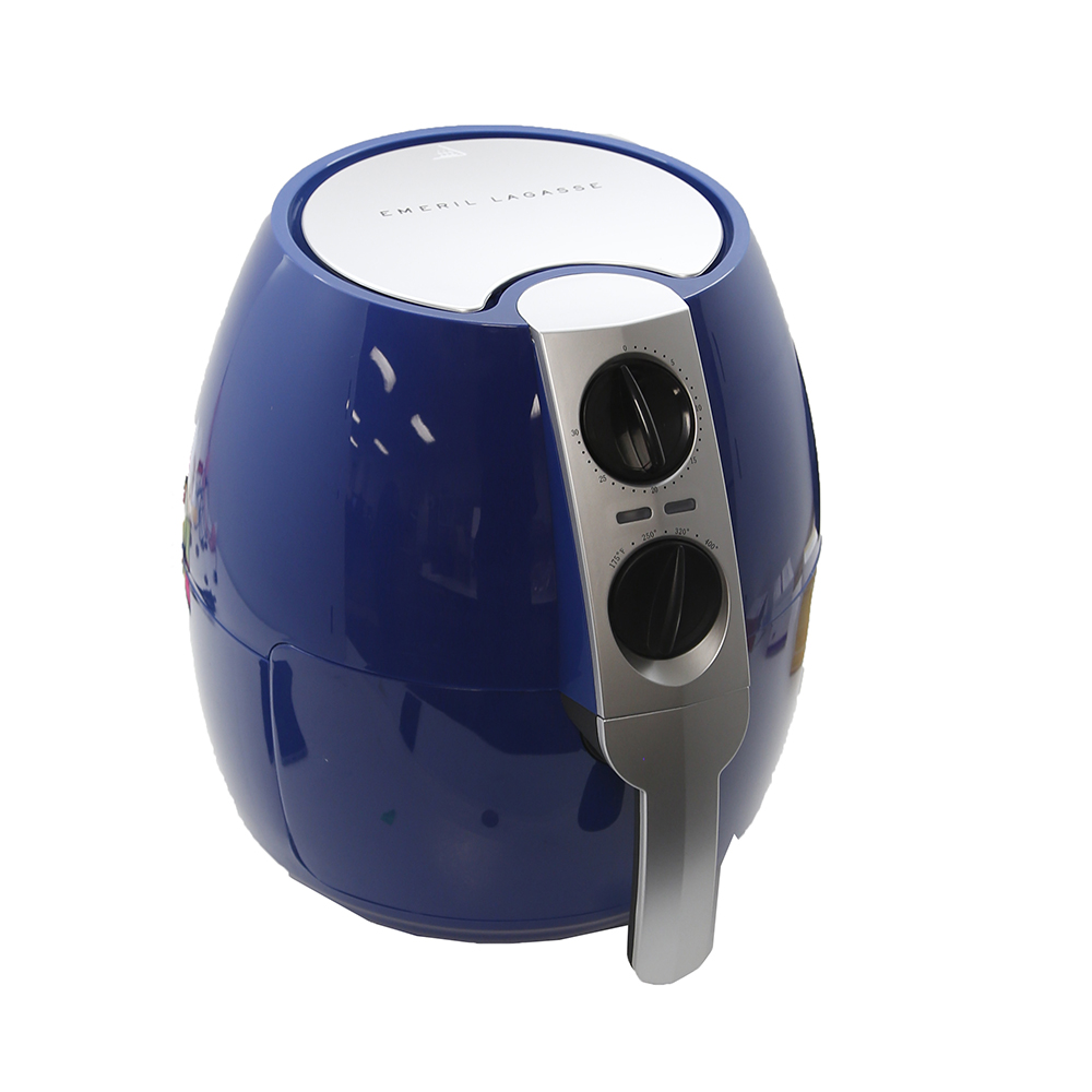 Emeril 3.75-qt Rapid Air Fryer w/ 2-in-1 Basket & Accessories -Blue
