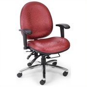 OFM 24 Hour Big and Tall Computer Task Office Chair in Raspberry