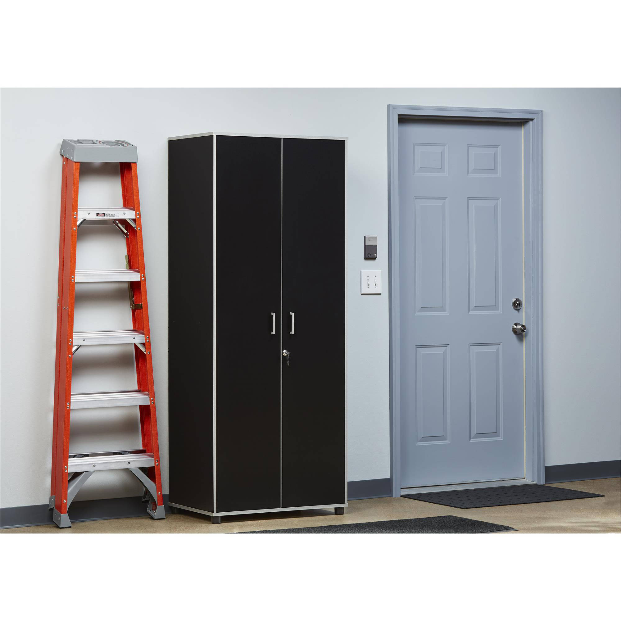 SystemBuild Apollo Tall Cabinet, Black by Ameriwood Home