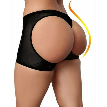 SLIMBELLE Womens Booty Booster Panty Breifs Butt Lifter Body Shaper Black Underwear -