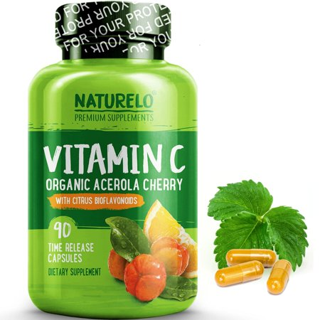 Vitamin C with Organic Acerola Cherry and Citrus Bioflavonoids - 90 Capsules