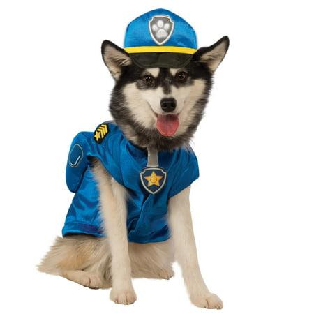 Top Paw Dog Halloween Costume (Paw Patrol Chase Pet Costume)