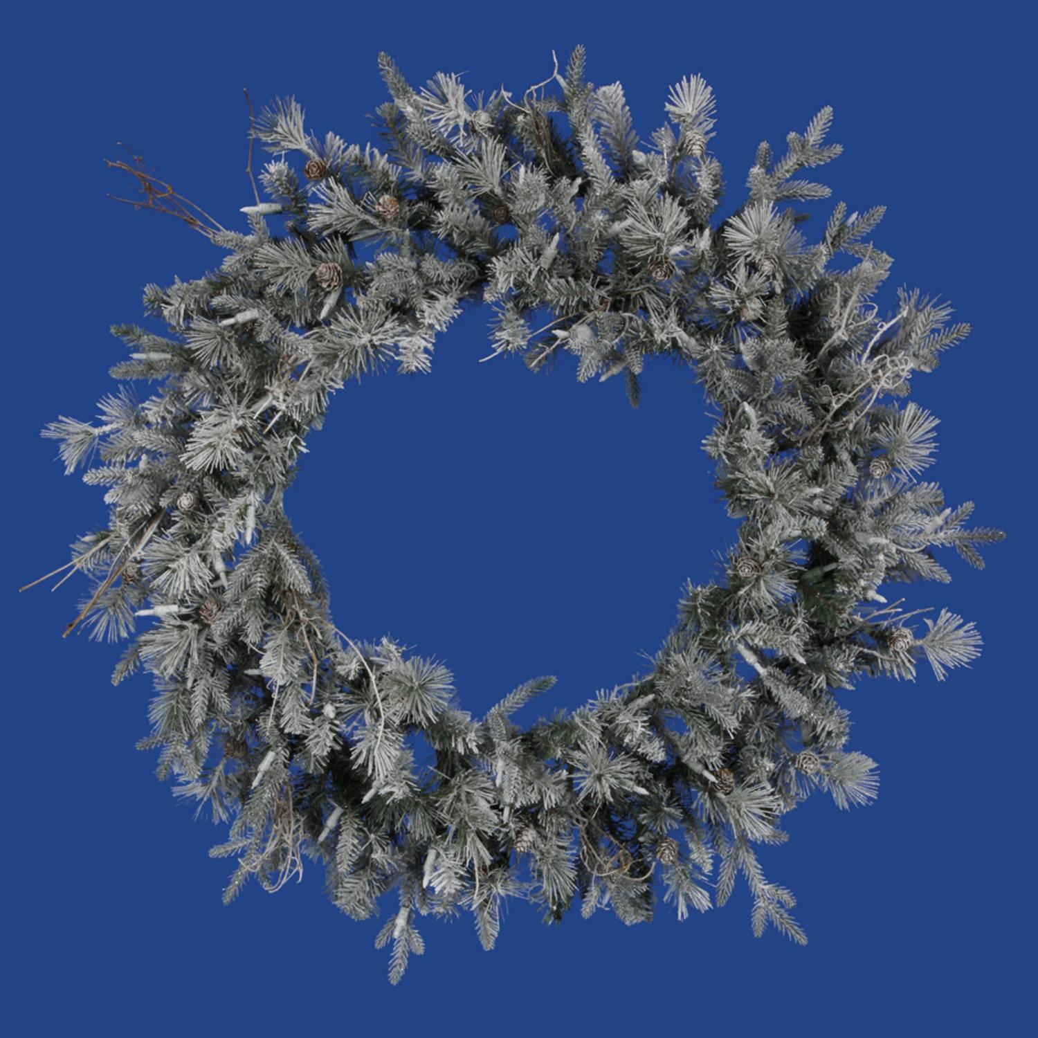 "36"" Frosted Wistler Fir Artificial Christmas Wreath - Unlit"