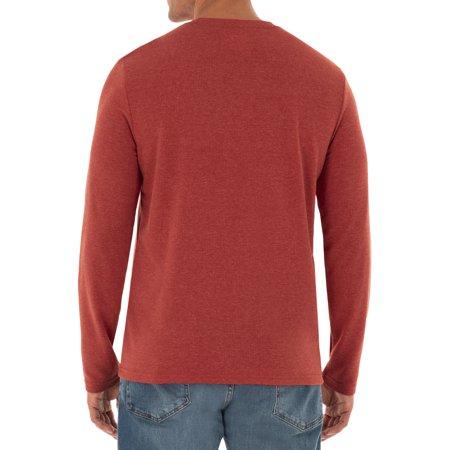 Wrangler Men's Long Sleeve Dual Face Comfort Thermal Pocket Work Tee