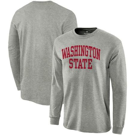 Washington State Cougars Fanatics Branded Basic Arch Long Sleeve T-Shirt -
