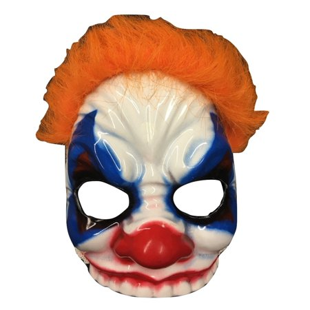 Clown Eye Mask With Hair Evil Killer Circus Twisted Carnival Costume Accessory