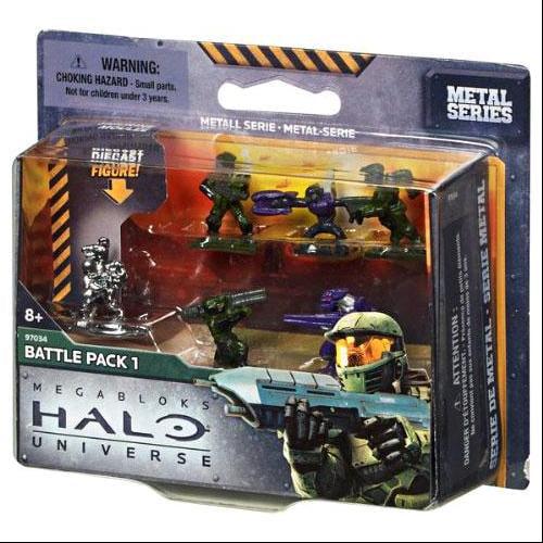 Halo Metal Series Battle Pack 1 Set Mega Bloks 97034