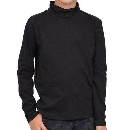 Boy's Turtleneck Shirt - Large (10) / Black for $<!---->