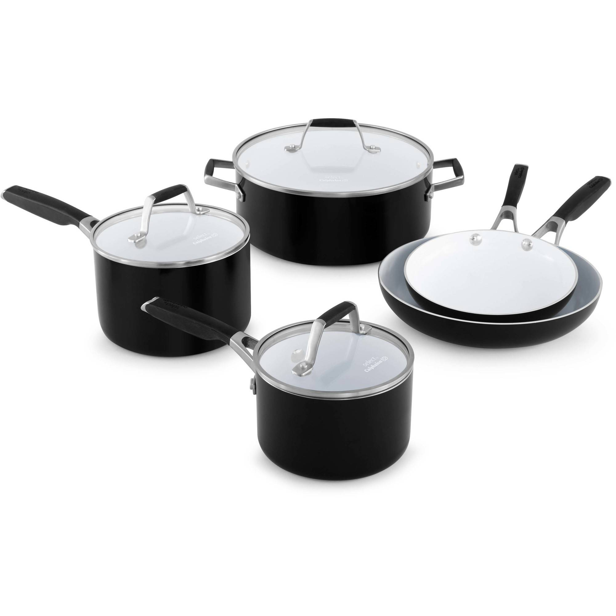 Select by Calphalon Ceramic Nonstick 8-piece Cookware Set