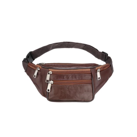 105b7f224a67 M.way - Unisex 5 Pockets Leather Waist Pouch Belt Bum Bag Fanny Pack ...