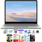 """Microsoft Surface Laptop Go 12.4"""" Intel i5-1035G1 8GB/128GB Touchscreen, Platinum Bundle w/ Elite Suite 18 Software (Office Suite Pro, Photo Editor, PDF Editor, PCmover Pro) + 1 Year Protection Plan"""