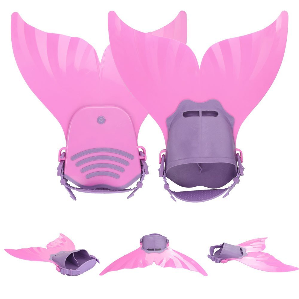 Mermaid Swim Fin Flipper For Kids Child Swimming Training Toy Pink by USCOCO