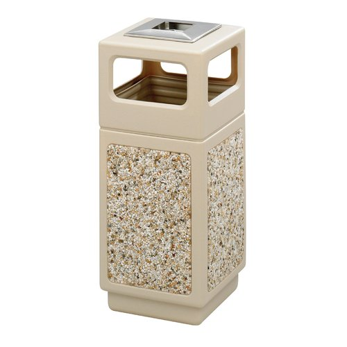 Safco Products Company Canmeleon Receptacle 15 Gallon Open Plastic Trash Can
