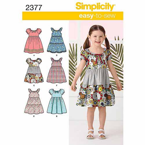 Simplicity Child Dresses, 3, 4, 5, 6, 7, 8