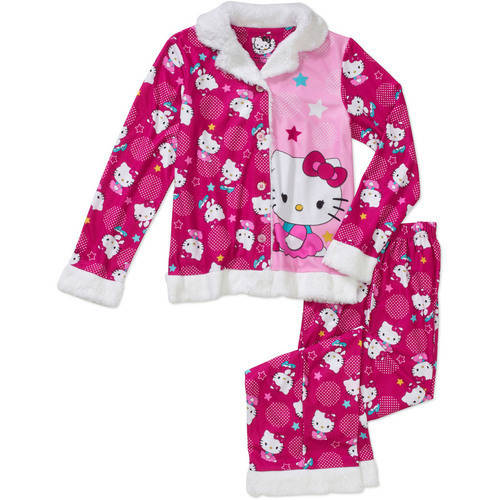 Girls' Hello Kitty Coat Pajama Set