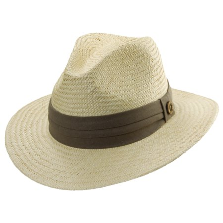 Tommy Bahama Size Small/Medium Palm Fiber Safari Hat, Taupe