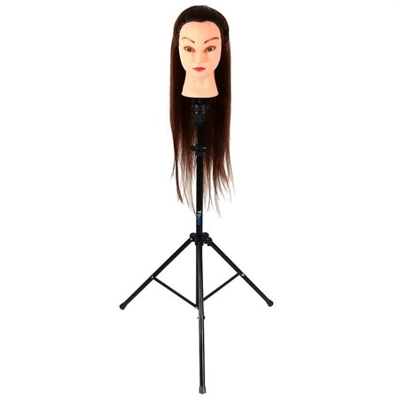 Mannequin Head Stand Tripod, Adjustable Hair Dressing Holder for Wig Hairdressing Training, Cosmetology Mannequin Training Professional Metal Support Tripod for Hairdressers/Trainees Hairdressing