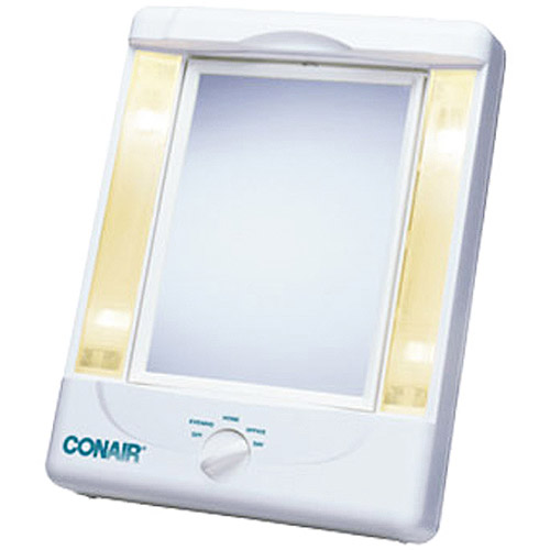 Conair Two-Sided Makeup Mirror with 4 Light Settings